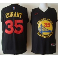 Golden State Warriors #35 Kevin Durant Black New Fashion Stitched NBA Jersey