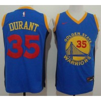 Golden State Warriors #35 Kevin Durant Blue Red No. Fashion Stitched NBA Jersey