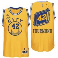 Golden State Warriors #42 Nate Thurmond Hardwood Classics Swingman Gold Jersey