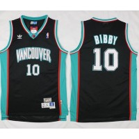 Grizzlies #10 Mike Bibby Black Throwback Stitched NBA Jersey