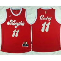Grizzlies #11 Mike Conley Red 2015-2016 Christmas Day Stitched NBA Jersey