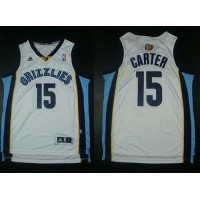 Grizzlies #15 Vince Carter Revolution 30 White Stitched NBA Jersey