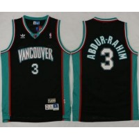 Grizzlies #3 Shareef Abdur-Rahim Black Throwback Stitched NBA Jersey