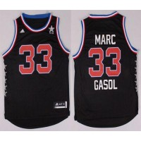 Grizzlies #33 Marc Gasol Black 2015 All Star Stitched NBA Jersey