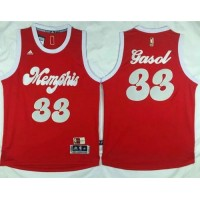 Grizzlies #33 Marc Gasol Red 2015-2016 Christmas Day Stitched NBA Jersey