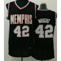 Grizzlies #42 Lorenzen Wright Black Throwback Stitched NBA Jersey