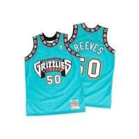 Grizzlies #50 Bryant Reeves Green Hardwood Classics Throwback Stitched NBA Jersey