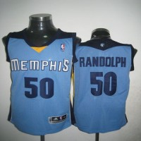 Grizzlies #50 Zach Randolph Light Revolution 30 Blue Stitched NBA Jersey