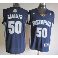 Grizzlies #50 Zach Randolph Revolution 30 Dark Blue Stitched NBA Jersey