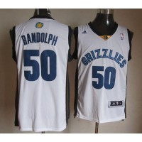 Grizzlies #50 Zach Randolph Revolution 30 White Stitched NBA Jersey