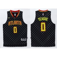 Hawks #0 Jeff Teague Black Swingman Stitched NBA Jersey