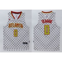 Hawks #0 Jeff Teague White Swingman Stitched NBA Jersey
