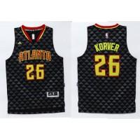 Hawks #26 Kyle Korver Black Swingman Stitched NBA Jersey