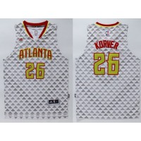 Hawks #26 Kyle Korver White Swingman Stitched NBA Jersey