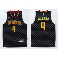 Hawks #4 Paul Millsap Black Swingman Stitched NBA Jersey