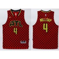 Hawks #4 Paul Millsap Red Swingman Stitched NBA Jersey