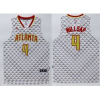 Hawks #4 Paul Millsap White Swingman Stitched NBA Jersey