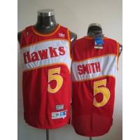 Hawks #5 Josh Smith Red Stitched Throwback NBA Jersey