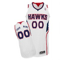 Hawks Personalized Authentic White NBA Jersey (S-3XL)