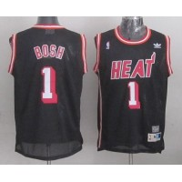 Heat #1 Chris Bosh Black Hardwood Classics Nights Stitched NBA Jersey