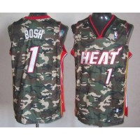 Heat #1 Chris Bosh Camo Stealth Collection Stitched NBA Jersey