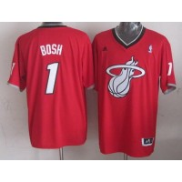 Heat #1 Chris Bosh Red 2013 Christmas Day Swingman Stitched NBA Jersey