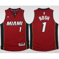 Heat #1 Chris Bosh Stitched Red NBA Jersey