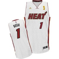 Heat #1 Chris Bosh White 2012 Champions Ring Ceremony Stitched NBA Jersey