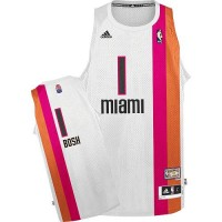 Heat #1 Chris Bosh White ABA Hardwood Classic Stitched NBA Jersey