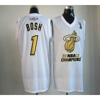 Heat #1 Chris Bosh White Majestic 2012 NBA Champions Stitched NBA Jersey