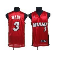 Heat #3 Dwyane Wade Stitched Red NBA Jerse