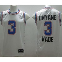Heat #3 Dwyane Wade White 2015 All Star Stitched NBA Jersey