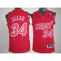 Heat #34 Ray Allen Red Big Color Fashion Stitched NBA Jersey
