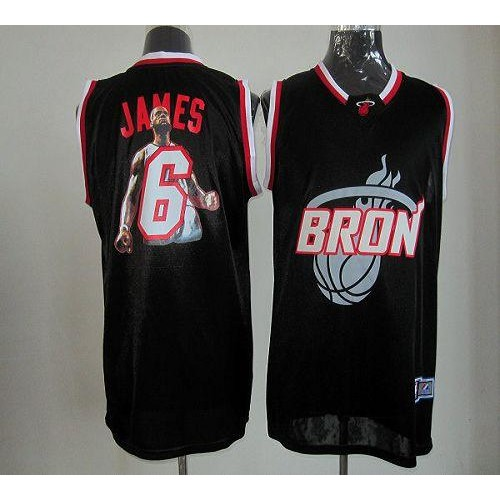 d3856ca58 Heat  6 LeBron James Black Majestic Athletic Notorious Fashion Stitched NBA  Jersey