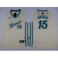 Hornets #15 Kemba Walker Cream 2015-2016 Christmas Day Stitched Youth NBA Jersey