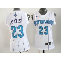 Hornets #23 Anthony Davis White Women's Home Stitched NBA Jersey