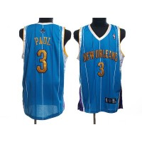 Hornets #3 Chris Paul Stitched Baby Blue NBA Jersey