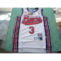 Hornets #3 Chris Paul White Throwback Stitched NBA Jersey