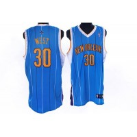 Hornets #30 David West Stitched Baby Blue NBA Jersey