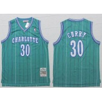 Hornets #30 Dell Curry Light Blue Throwback Stitched NBA Jersey