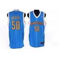 Hornets #50 Emeka Okafor Stitched Baby Blue NBA Jersey