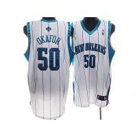 Hornets #50 Emeka Okafor Stitched White NBA Jersey