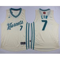Hornets #7 Jeremy Lin Cream 2015-2016 Christmas Day Stitched NBA Jersey