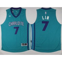 Hornets #7 Jeremy Lin Teal Stitched NBA Jersey