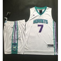 Hornets #7 Jeremy Lin White A Set Stitched NBA Jersey