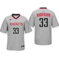 Houston Rockets #33 Ryan Anderson Alternate Gray New Swingman Jersey