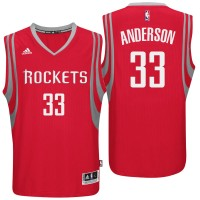 Houston Rockets #33 Ryan Anderson Road Red New Swingman Jersey