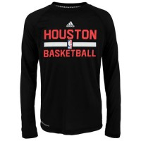 Houston Rockets Adidas On-Court Climalite Ultimate Long Sleeves T-Shirt Black