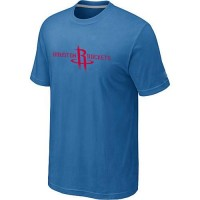 Houston Rockets Adidas Primary Logo T-Shirt Light Blue