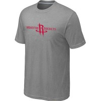 Houston Rockets Adidas Primary Logo T-Shirt Light Grey